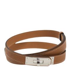 HERMES/爱马仕 女士皮革银色Kelly皮带扣商务休闲皮带腰带多色可选图片