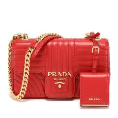 PRADA/普拉达 女士Prada Diagramme皮革斜挎包 1BD107_2D91_V_COX图片
