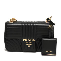 PRADA/普拉达 女士Prada Diagramme皮革斜挎包 1BD107_2D91_V_COX 2020年春夏图片