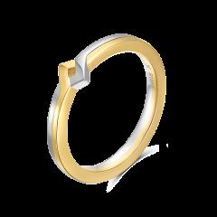 【新品定制】CIRCLE/CIRCLE18k金双色戒指玫瑰金白金情人对戒男女 免费刻字 定制款45天发货图片