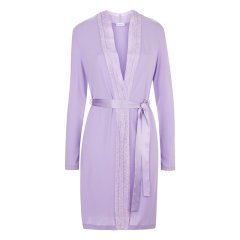 LAPERLA/萝贝拉女士CITRINE系列新款奢华刺绣短款睡袍女睡衣/家居服图片