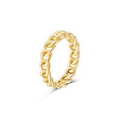 【新品定制】CIRCLE/CIRCLE18k金链条戒指情人对戒男女 简约精致 定制款45天发货图片