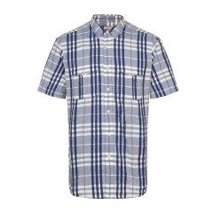 BURBERRY/博柏利男士短袖衬衫纯棉格纹男士短袖衬衫短袖休闲衬衫图片