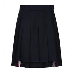 【20春夏】THOM BROWNE/THOM BROWNE 经典条纹百褶裙 女士半身裙 FGC402A00626图片
