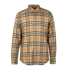 BURBERRY/博柏利巴宝莉衬衫格纹衬衫男士长袖衬衫8020863经典格纹图片