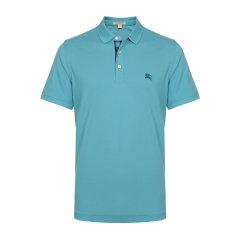 BURBERRY/博柏利  纯棉刺绣logo领口格纹男士短袖Polo衫 男装 男士T恤 40612321图片