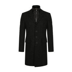 【瑕疵特卖】 BURBERRY/博柏利 burberry服装 巴宝莉 保暖衣物内里(可拆卸)羊毛大衣 深蓝色 两件式套装 男装 男士大衣 39414991图片