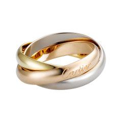【包税】CARTIER/卡地亚  TRINITY系列 18K金白金黄金玫瑰金三色三环戒指 求婚结婚订婚对戒  B4052700图片