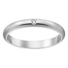【包税】CARTIER/卡地亚 pt950铂金单钻 简约大气 1895结婚求婚订婚对戒戒指  B4057700图片