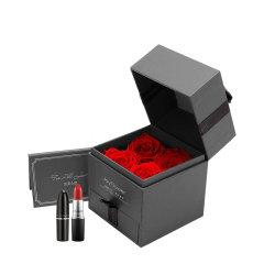 JoyFlower情人节礼物永生玫瑰首饰盒MAC/迪奥999口红套装-四种规格可选图片