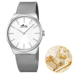 Lotus/路特斯手表 女表男表情侣对表 时尚米兰尼斯钢带手表男 手镯手表女套装图片