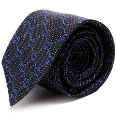 GUCCI/古驰  男士 经典款双G纹 桑蚕丝商务领带图片