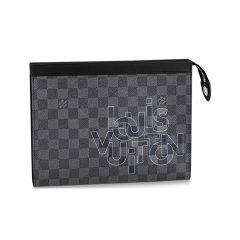 Louis Vuitton/路易威登 男包 手拿包 新款手包  黑色 棋盘格/帆布图片
