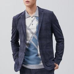 【20早春新款】ERDOS/鄂尔多斯 男装 经典格纹 商务休闲 男士西服图片