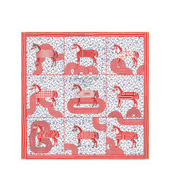 "HERMES/爱马仕 ""波普式骏马的披挂""90厘米卷边斜纹真丝女士方巾丝巾 H003363S 29-E20SS图片"