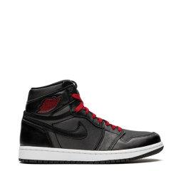 Nike耐克 篮球鞋 男士 女士 20春夏 黑色 Air Jordan 1 Black Satin AJ1 乔1 黑红 丝绸 黑丝绒 555088-060 575441-060图片