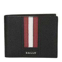 BALLY/巴利 20春夏 男士牛皮条纹短款折叠钱夹钱包手拿包图片