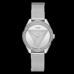 Guess/盖尔斯美国品牌女士石英腕表精致贵气满天星玫瑰金/星河银时尚轻奢女表简约W1142L4/W1142L1图片