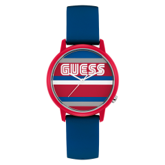 Guess/盖尔斯美国品牌男士石英手表潮牌手表简约学生表欧美款硅胶V1028M4/V1028M3图片
