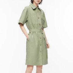 MO&Co./摩安珂女士连衣裙2020春季新品腰带收腰工装连衣裙MBO1DRS011图片