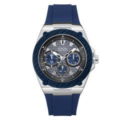 Guess/盖尔斯美国品牌男士石英腕表个性经典炭纤维纹麻色海军蓝/熔岩黑表盘三眼时尚运动W1058G1/W1049G1图片