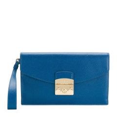 【包邮包税】FURLA/芙拉 女士时尚简约牛皮翻盖手拿包女包 多色可选图片