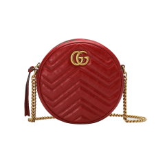Gucci//古驰女士箱包 奢侈品 女士皮革圆形链条单肩包图片