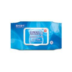 国光75%酒精消毒湿巾 杀菌消毒 GMP10万级清洁生产 优质无纺布 便携式50片图片