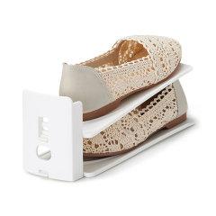 6组装鞋架日本进口鞋整理架   利快likeit双层高度可调鞋收纳架 鞋托收纳省空间图片