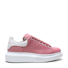 AlexanderMcQueen/亚历山大麦昆2020春夏女士闪光面料配皮系带阔型运动鞋558944W4LV1图片