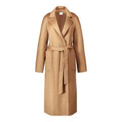 GeleiStory/GeleiStory经典大衣双面羊绒大衣毛呢外套女水波纹羊绒大衣女士外套 女士大衣图片