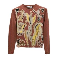 Dior/迪奥 20春夏 女装 服饰 米色羊绒时尚树枝图案刺绣装饰长袖女士针织衫毛衣图片