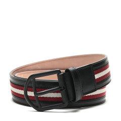 【现货秒发】BALLY/巴利 男士织物配皮针扣式皮带腰带 NOVO 40 M TSP图片