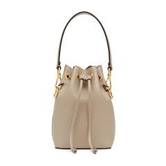 Fendi/芬迪 20春夏 MONTRESOR系列 女士纯色小牛皮迷你单肩斜挎包水桶包手提包图片