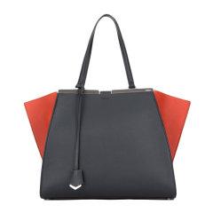 【包税】Fendi 芬迪  撞色牛皮羊皮时尚女士单肩手提包挎包图片