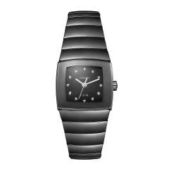 RADO雷达 银钻系列 高科技陶瓷 雷达女士手表 石英腕表 R13726752 watch 全球联保 RADO/雷达图片