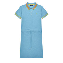 HAZZYS/哈吉斯 夏季新款女士连衣裙短袖运动polo裙纯色AQWSE09BE01图片
