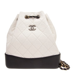 【包邮包税】CHANEL/香奈儿 女士牛皮菱格纹金属logo标水桶包挎包双肩背包图片