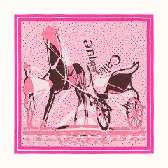 【礼盒装 礼物】HERMES/爱马仕 方形 真丝丝巾 轻快马车混搭 拼色 90cm图片