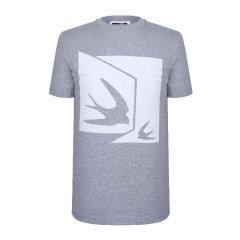 McQ/McQ 20春夏 男装 服装 男士棉质燕子图案印花圆领短袖半袖T恤 男士短袖T恤图片
