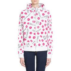 Love Moschino/爱莫斯奇诺  女装 服装 棉质唇印图案时尚休闲连帽长袖运动衫外套 女士夹克外套 W336400-4088图片
