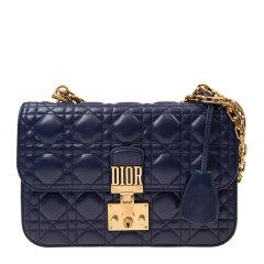 【包邮包税】Dior 迪奥 J Dior系列 女士羊皮金属logo链条包单肩斜挎包图片