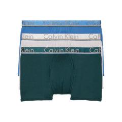 【3条装】Calvin Klein/卡尔文·克莱因  男士纯色舒适透气平角内裤 男士内裤 NB1360图片
