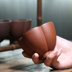 FANJ/梵匠 『菱花杯*1只』三色可选 宜兴紫砂杯 茶杯 杯子 品茗杯大口杯主人杯 原矿紫泥 250cc图片