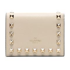 【现货秒发】Valentino/华伦天奴 女士牛皮铆钉装饰短款钱包钱夹 SW2P0P39BOL图片