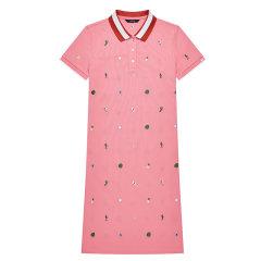 【商场同款】HAZZYS/哈吉斯 夏季新款修身运动POLO裙女士连衣裙AQWSE09BE05图片