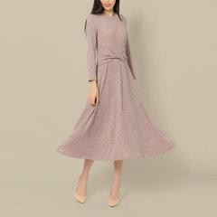 DONGJINGJI/东景记女装>女士裙装>女士连衣裙装饰腰封修身长裙图片