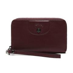 Longchamp/珑骧女士LEPLIAGECUIR系列羊皮钱包钱夹礼盒款3615757图片