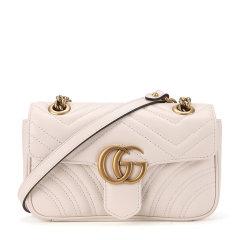 GUCCI/古驰  /GG Marmont系列 女士牛皮双G徽标小号链条单肩斜挎包图片
