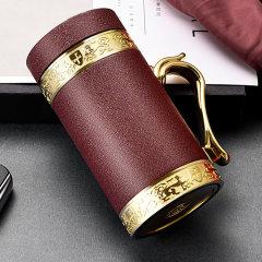 FANJ/梵匠 『大展办公杯』 轻奢商务紫砂内胆保温杯家用简约办公带手把创意茶具茶杯子 420cc图片